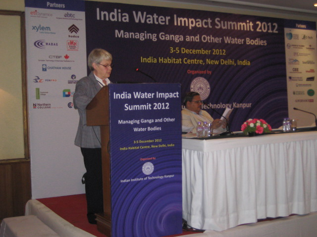 Ulla håller föredrag på India Water Summit
